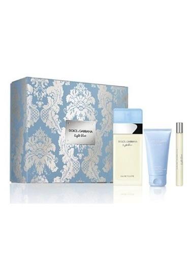 Dolce&Gabbana Light Blue Edt 100 Ml + Body Cream 50 Ml + Edt 10 Ml Renksiz